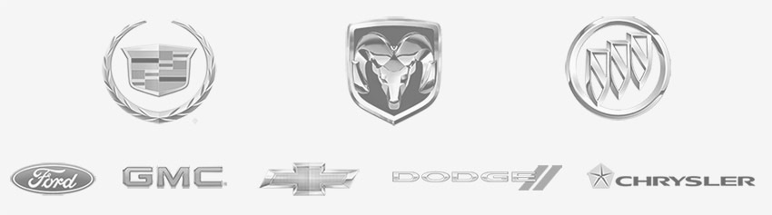 ford, gmc, chevy, dodge, crystler logos